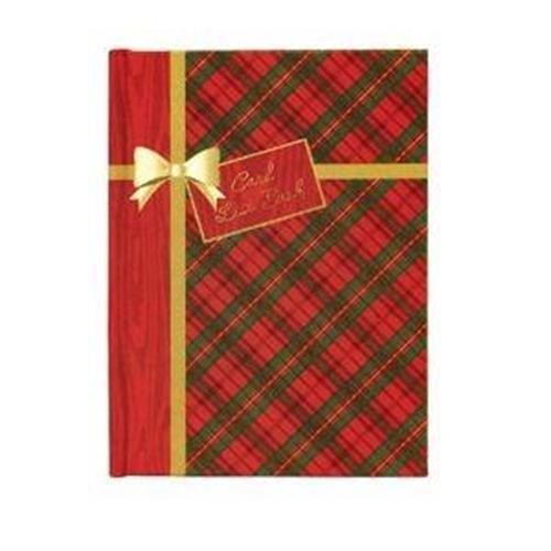 holiday tartan christmas card list book