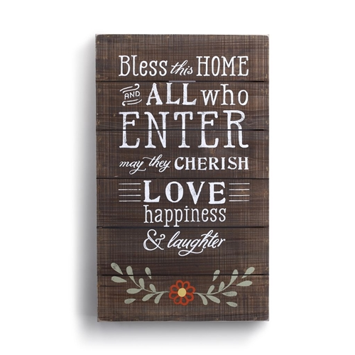 BLESS THIS HOME WALL ART - 13.5X22.5   sc 1 st  OneCoast & Bless This Home Wall Art - 13.5x22.5