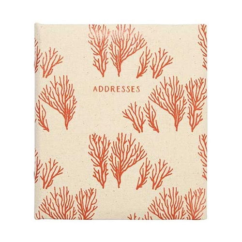 refillable address book coral