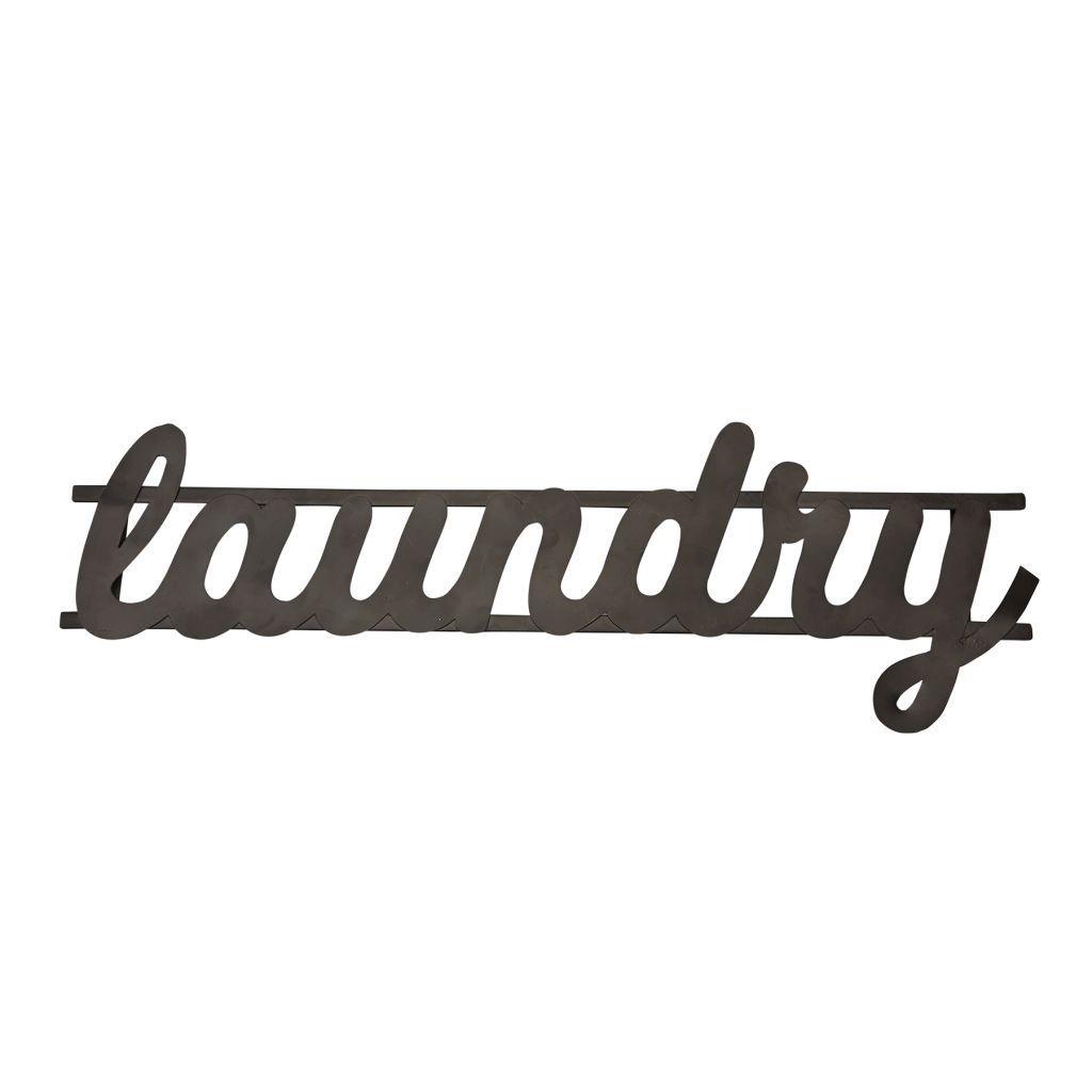 Laundry Word Art Cursive Metal Laundry Word Art