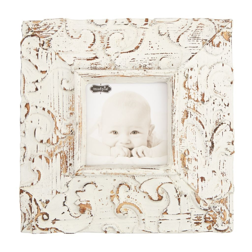 Square Molded Antique Textured Frame