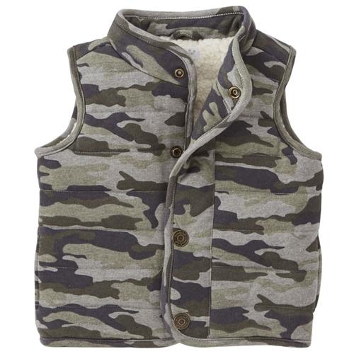 694ca890df27 Camo Quilted Vest