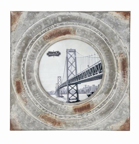 Large Distressed Tin Square Frame