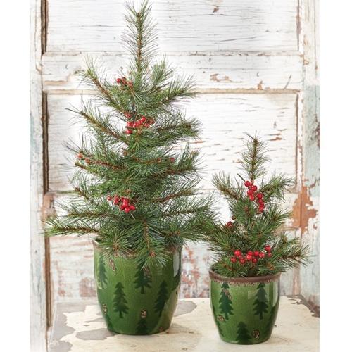 The Real Christmas Tree Farm: Christmas Tree Pot Set