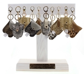 Adult Hand Sanitizer Key Chain Collection, 2 of 8 Styles, Free Display Pkg