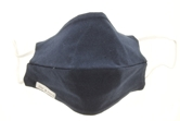 Navy 100% Cotton Face Mask, Elastic Ear Straps