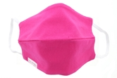 Hot Pink 100% Cotton Face Mask, Elastic Ear Straps