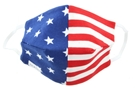 American Flag 100% Cotton Face Mask, Elastic Ear Straps