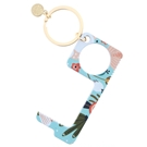 Floral Touchless Key Keychain