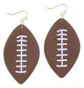 Leather Football Earring