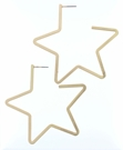 Gold Flat Cut Out Star Earrings