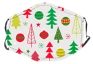 Christmas Tree and Ornaments Face Mask, Adjustable Elastic Ear Straps