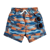Camo Swim Trunks W Sunglasses