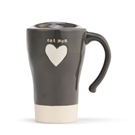Cat Mom Heart Travel Mug