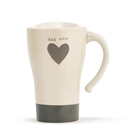 Dog Mom Heart Travel Mug