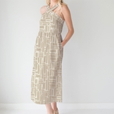 Dress Arden All Squared Away Taupe Prepack