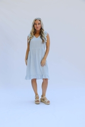 Dress Blake Speckled with Love Blue Prepack