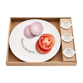 Grill Plate & Condiment Set