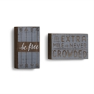 Be Free, Extra Mile Wall Art - 2A-5x8.5""