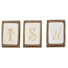 GOLD INITIAL TRAYS ASSORTMENT