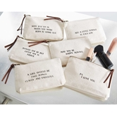 CANVAS COSMETIC BAGS