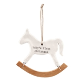 Rocking Horse Baby Ornament