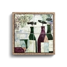 Wine Coaster Set in Cork Tray