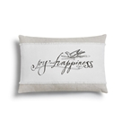 Joy and Happiness Throw Pillow - 18x12""