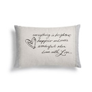 Love Throw Pillow - 24x16""