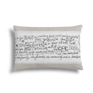 Believe Hope Faith Throw Pillow - 18x12""