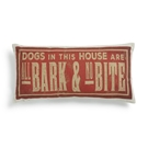 All Bark & No Bite Throw Pillow