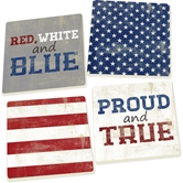 RED/WHITE/BLUE - 4PK