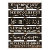 GRANDPARENTS HOUSE RULES - 17X23.5