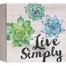 LIVE SIMPLY - 7X7