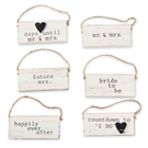 Wedding Small Hanging Plaques