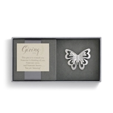 Silver Butterfly Giving Pin