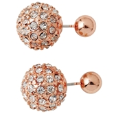 Pave & Stud Reversible Earrings