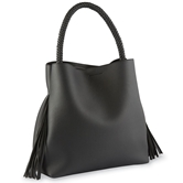 Fiona Fringe Tote Bag in Black