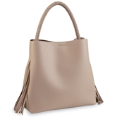 Fiona Fringe Tote Bag in Taupe