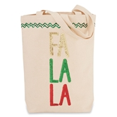 CHRISTMAS CANVAS & SEQUIN TOTES