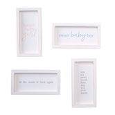 Small Framed Baby Plaques