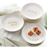 Gold Holiday Dessert Plates