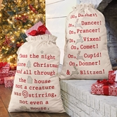 Night Before Christmas Gift Sacks