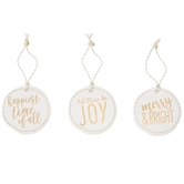 Gold Ceramic Holiday Tags