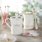 Gold Reindeer Mug Sets