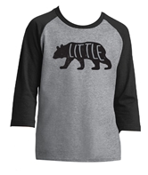 Kids Little Bear Black/Heather Dk Grey 3/4 Sleeve Assortment