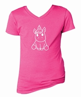 Kids Unicorn Raspberry V-Neck Assortment