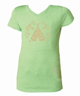 Kids Be Brave Little One Apple Green V-Neck Assortment