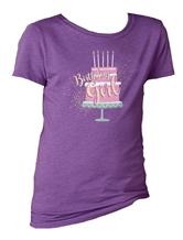 Kids Birthday Girl Purple Berry Crewneck Assortment