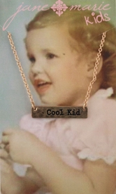 "14"" Gold Necklace /w Cool Kid Bar, 3"" Ext."